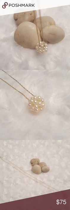Spotted while shopping on Poshmark: Beautiful cluster pearl necklace! Very unique.! #poshmark #fashion #shopping #style #Jewelry