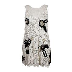 1stdibs.com   Oscar de la Renta Crocheted Floral Mini Dress