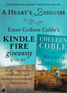 "In the midst of end-of-war celebrations, Sarah discovers her betrothed was keeping a devastating secret in Colleen Coble's ""A Heart's Disguise."" Colleen is celebrating the release of ""A Heart's Disguise"" with a Kindle giveaway, blog tour, and a Facebook party on May 5. Click for details!"