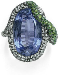 Sapphire, Diamond, and Tsavorite Garnet Ring Michele Della Valle  Christie's