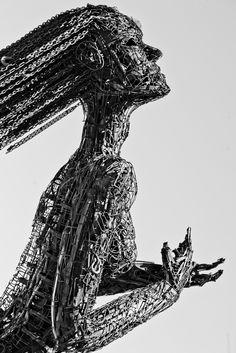Emotionally Charged Scrap Metal Sculpture - My Modern Met