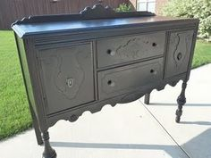 buffet painted black