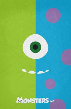 Monsters Inc - Minimalist Poster 02 Art Print