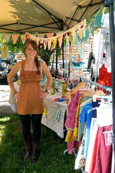 craft show booth by kimallisondavis, via Flickr