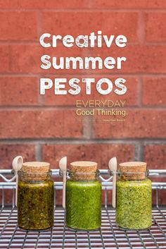 How to Make & Use Creative Summer Pestos