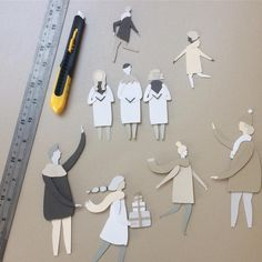 Making Christmassy Bristolian people for an exciting new project!#bristol #christmas #visitbristol #discoverbristol #papercraft #papercutting #handmade #makeit #bristolartist #paperillustration #paperart #papercut #paper #art #colourful #gfsmith #handcrafted #landscape #nature #creative #papersculpture  #illustration #wip #workinprogress #artist  #colourpalette #instaartist #artoftheday #illustrationoftheday #mydesk