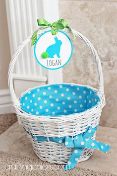Easter basket name tags on easter baskets easter and easter decor easter basket name tags on negle Choice Image