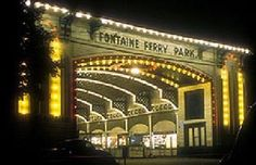 Fontaine Ferry Park Entrance, night Louisville,KY
