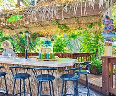 Have you been dreaming about a tropical getaway? Better Homes and Gardens shows how homeowners created a tropical retreat right in their backyard! To Create a Tropical Retreat in your . Read moreHow to Create a Tropical Tiki Backyard Backyard Beach, Tropical Backyard, Backyard Ideas, Backyard Designs, Sloped Backyard, Tropical Gardens, Backyard Paradise, Pergola Designs, Patio Design
