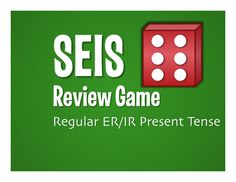 SEIS! (Six!) is an easy review game for any verb tense, vocabulary set, or basic grammar structure.  All you need is a pack of dice and a copy of the game board for each kid... and you've got a whole hour of engaged kids!  This file includes a game board, answer key, and instructions for how to use it in class.