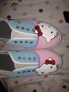 Custume hello kitty shoes by ExploreCreativity on Etsy, $40.00