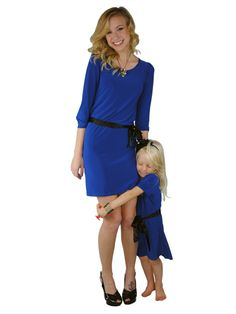 Matching mother-daughter dress - Alyssa Blue Dress | meNmommy.com