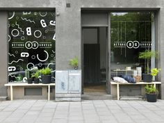 "A ""Concrete mine"" in Stockholm - Nordic Design Shop Interior Design, Cafe Design, Retail Design, Store Design, Design Café, Exterior Design, Design Ideas, Window Stickers, Window Decals"