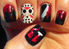 Elvina In Neverland ~ Alone But Never Lonely - Introvert & Proud Halloween Acrylic Nails, Halloween Nail Designs, Long Acrylic Nails, Cute Nails, My Nails, Scary Nails, Happy Nails, Pretty Nail Art, Nagel Gel