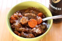 Stovetop Guinness Beef Stew (Dinner For Two) - Homemade In The Kitchen Beer Recipes, Entree Recipes, Crockpot Recipes, Irish Recipes, Chili Recipes, Soup Recipes, Cooking Recipes, Traditional Irish Stew, Beef Stew Stove Top