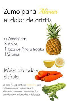 Zumo de Piña, para aliviar el dolor de #artritis y desinflamar las #articulaciones