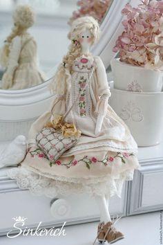 Куклы Тильды ручной работы. Ярмарка Мастеров - ручная работа. Купить Виенн. Handmade. Тильда, для уюта, Овечьи кудри