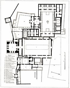 High resolution plan, 65. .Alhambra Palace. Granada, Spain. Nasrid Dynasty. 1354–1391 C.E. Whitewashed adobe stucco, wood, tile, paint, and gilding.