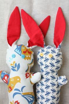 DIY: Quickie Basket Bunnies (with free pattern)