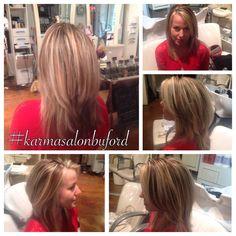 #karmasalonspa #karmasalonbuford #layers #bronde #blonde #brunnette