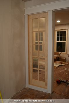 Stationary Built-In French Door Panels (French Doors Used As Interior Sidelights) – Basic Build