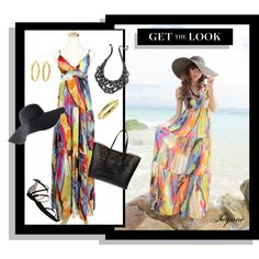 """""""""""Multi Colored Maxi Dress'"""" by ladyjaynne on Polyvore"""