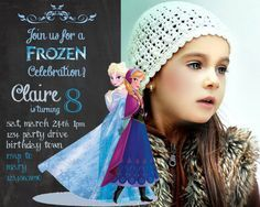 free dyi frozen bday invitation templates - Google Search