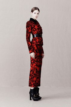 Gothic Couture: Alexander McQueen RTW Pre-Fall 2013 via Style.com