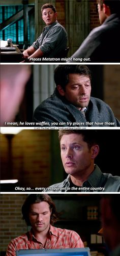 11x03 The Bad Seed [gifset] -They're trying! #Supernatural