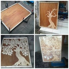 A tree style plywood guest book,  For wedding reception in 30th of march 2017, in gianyar bali. We made it less then 2 days, as all the material is already in stock,  Just need to cut n sand it. Base on the order  For your information about our product and pricelist, contact us via;  FB; Bali Rustic Rental  Instagram : bali rustic rental Email : goesbayuputra@yahoo.com Wa : 089655355052 Ph : 081238076101