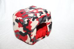 guinea pig bed snuggle sack cuddle cup rat chinchilla small pet handmade piggie cube on Etsy, $27.73