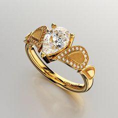 Gorman Designs 14K Yellow Gold 1.0 Ct Pear White by GormanDesigns