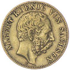 10 Mark 1888 E Deutsches Kaiserreich Sachsen. Albert 1873 - 1902