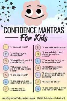 Confidence Mantras For Kids