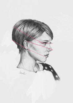 Feature distances on portrait sketch of Lea Seydoux