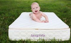 The Savvy Baby organic crib mattress from Savvy Rest Organic Mattresses. Natural latex, certified organic cotton and certified organic wool. $549