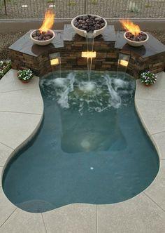 Fire Bowls & Waterfall Spa - Sonoran Waters Custom Pool & Spa, LLC