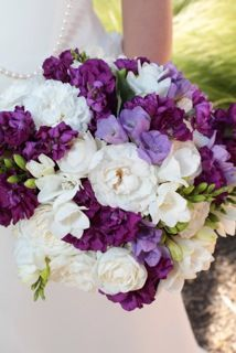 Simple white and purple with a touch of lavender for a sweet elopement.