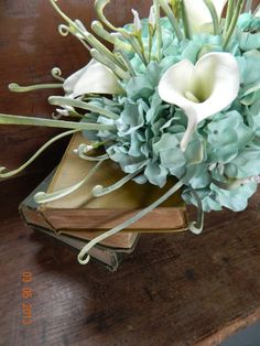 Bride Bouquet Mint Green Flowers by WeddingsbyKimberly on Etsy, $49.95