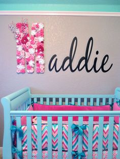 Maddie's Pink, Aqua, and Gray Chevron Nursery | Project Nursery