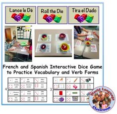 Foreign (World) Language Speaking Activity with Dice; Vocabulary and Verb. (French, Spanish) http://wlteacher.wordpress.com