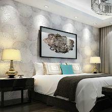Hulgimüük 3d flokeerimine ringi Grey tapeet rullid voodipesu toas TV taustal seina paberirull esineb wallcovering (Hiina (Mandri))