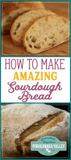 Chewy and slightly tangy, who doesn't like a warm slice of sourdough bread? I bet you didn't realize just how easy it is to make either. #sourdough #bread #artisan #homesteading