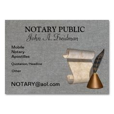 Notary public business card card templates business cards and notary public business card reheart Choice Image