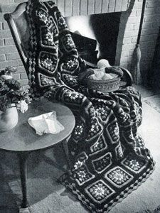 Old granny afghan, found on : http://www.freevintagecrochet.com/afghans/old-granny-afghan-pattern.html