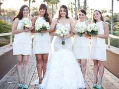 Love these #bridesmaids dresses!