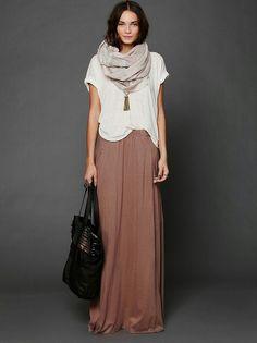 8020cf83d6 Winter maxi dress. Loose white t-shirt
