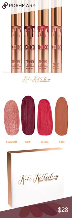 KHLO$ KoKo Kollection NWT Authentic Koko Kollection matte liquid lipstick by Kylie Jenner and Khloe Kardashian  Will ship out same day it is received  Open to offers  No trades Please Discount on bundles  .                                KHLO$ ONLY Kylie Cosmetics Makeup Lipstick