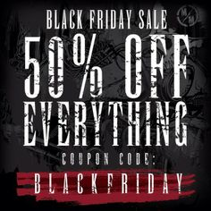 We're celebrating our Black Friday sale early! Get 50% OFF EVERYTHING in our online store including items already on sale! Stock up on your favorite Metal Mulisha Mens, Maidens, and Mini Troop clothing and accessories in time for the holiday! Use the CODE: BLACKFRIDAY at checkout to SAVE! http://www.metalmulisha.com/shop/maidens/
