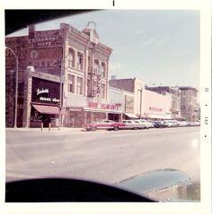 East side of 800 block of Main Street, Winfield, KS - 1972.  Photo by John Ozbun.